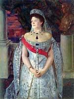 Б. Кустодиев. Великая княгиня Мария Павловна (1854-1920), жена брата Александра III