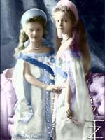 Великие Княжны Ольга Николаевна и Татьяна Николаевна