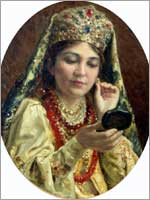 К.Е. Маковский «Девушка, примеряющая серьги»