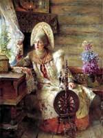 К.Е. Маковский «Боярыня у окна с прялкой»