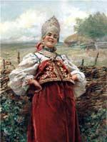 К.Е. Маковский «У околицы»