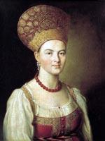 И.П. Аргунов «Портрет неизвестной в русском костюме» 1784 г.