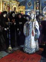 В. Суриков «Посещение царевной женского монастыря» 1912 г.