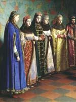 Г.С. Седов «Выбор невесты царем Алексеем Михайловичем» 1882 г.