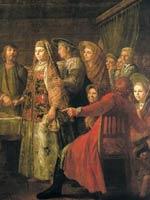 Михаил Шибанов «Празднество свадебного договора» 1777 г.