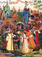 Славянский свадебный обряд. Палехская роспись