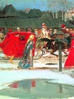 Андрей Рябушкин «Свадебный поезд в Москве (XVII столетие)». 1901 г.