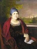 Тропинин В.А. «Портрет купчихи в синем повойнике» 1830 г.