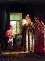 В. Максимов «Сборы на гулянье» 1869 г.