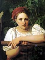 Венецианов А.Г. «Крестьянка Тверской губернии» 1840-е.