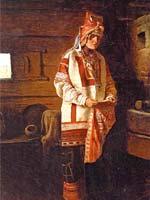 М.П. Клодт (фон Юргенсбург) «Девушка мордовка» 1882 г.