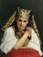 Николай Харламов «Русская девушка» 1888 г.