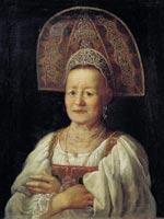 П.С. Дрождин. «Портрет купчихи в кокошнике», 1797 г.
