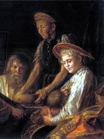 М. Шибанов «Крестьянский обед» 1774 г.