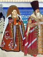 И.Я. Билибин «Иллюстрация к сказке о Золотой рыбке» 1929 г.