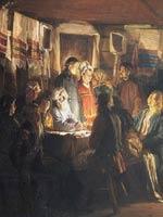 В.М.Максимов. Приход колдуна на крестьянскую свадьбу 1875 г.