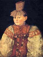 Портрет тверской крестьянки в повязке с жемчужной поднизью» 1830-е г.