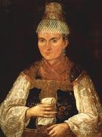 Портрет тверской мещанки. 1840-е г. Неизв. худ.