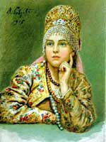 В.А. Бобров «Боярышня» 1915 г.