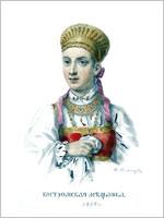 Акварели Ф.Солнцева из альбома «Одежды Русского государства». 1869 г.