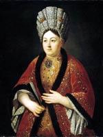 Р.Н. Никитин «Портрет Марии Яковлевны Строгановой» 1724 г.