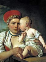 А.Г. Венецианов «Кормилица с ребёнком». Начало 19 в.