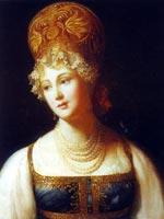 П. Барбье «Портрет молодой женщины в русском сарафане» 1817 г.