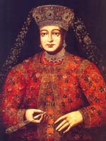 Портрет царицы Марфы Матвеевны Апраксиной (1664-1716 гг).