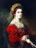 Фридрих фон Амерлинг (Friedrich von Amerling (1803-1887)) Портрет Мари Патерно