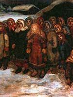 Е.В. Честняков. Ведение невесты из бани. 1920-е.