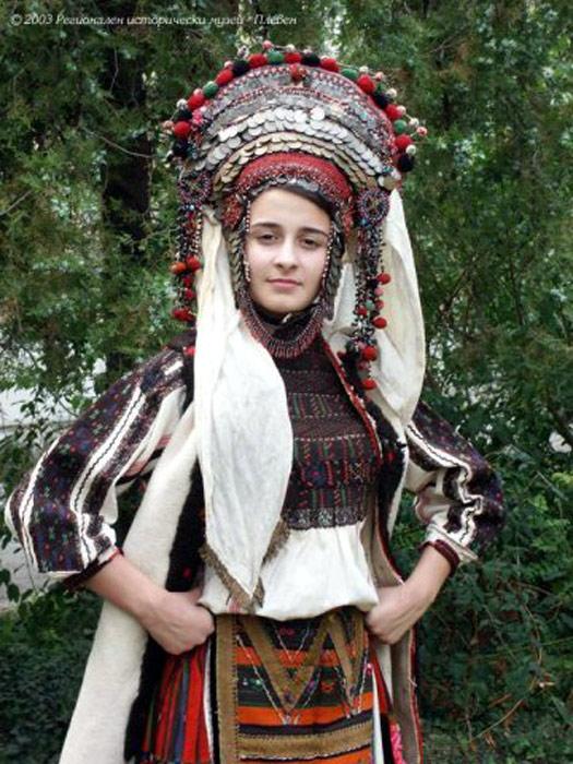 Болгарский свадебный народный костюм.