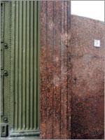 Заплатка на гранитной облицовке двери