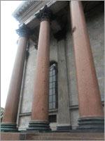 Колонны Исаакиевского Собора, повреждённые во время войны
