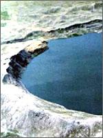Озеро Чаган, созданное с помощью ядерного взрыва в 1965 году