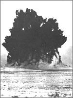 Рис.2. Ядерный взрыв на реке Чаган в 1965 году