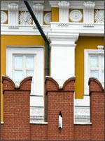 Рис. 5. Прекрасно сохранившиеся зубцы московского Кремля