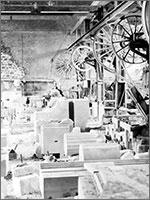 Промышленное производство «античного» декора в Портленде, 1930 г.