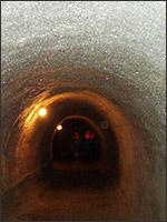 В Кунгурской пещере есть остатки туннелей