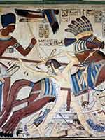 Фараон Сети I одерживает победу над ливийцами