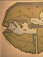 Ливия на карте мира Геродота (450 г. до н.э.)