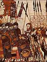 Христиане, союзники эмира Омара Аль-Муртада преследуют мусульман его противника Абу Юсуфа