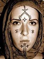Харкуз – татуировки берберских женщин