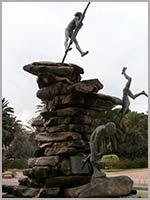 Гуанчи, прыгающие со скалы