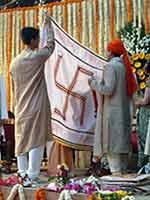 Украшение дома в Индии на свадьбу