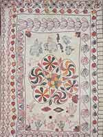 Старинное одеяло со свастиками. Бенгалия