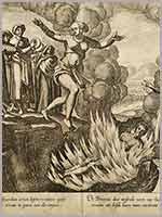 Сати – сожжение вдовы. Гравюра Ян Гюйген ван Линсхотен (Jan Huygen Van Linschoten) – 1563-1611