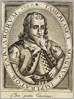 Датская гравюра 1621 год. Тамерлан Великий. Император Тартарии, 1398