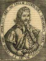 Английская гравюра 1603 год. Тамерлан правитель Тартарии
