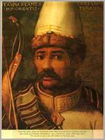 Картина флорентийского художника Cristofano dell'Altissimo. Тамерлан император восточный, Тартарии властитель мира