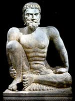 Скульптура аскета. Гандхара. 2-3 в. н.э.